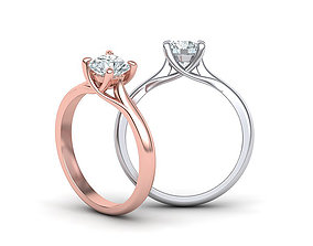 Solitaire Engagement ring with 6mm stone