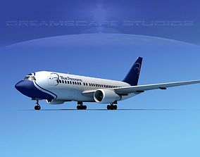 Boeing 767-200ER Blue Panorama 3D model