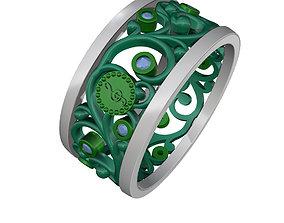 3D print model melody wedding ring 7441