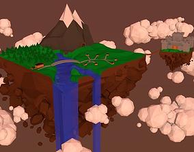 3D model Low Poly Mountain