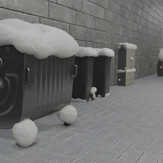 Blender-2.91 Real Snow Test-7