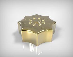 3D printable model Jewelry Golden Part Star Flower Detail