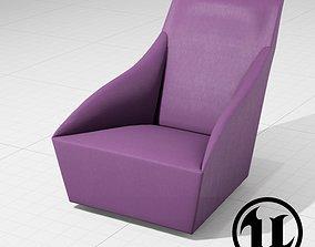 MolteniC Doda Chair UE4 3D model game-ready