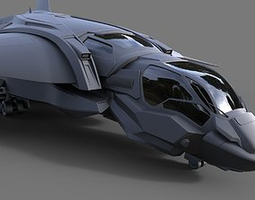 3D The Quinjet - High poly
