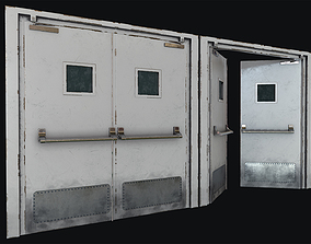 3D asset Hospital Doors Collection