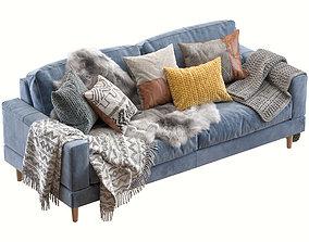 3D PBR Capri sofa 210 cm 2