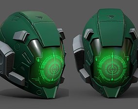 3D model Helmet combat military Scifi fantasy space 2