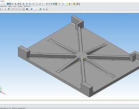 K-3855a Hearth Plate 3D