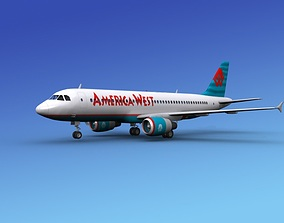 Airbus A320 America Air West 2 3D model