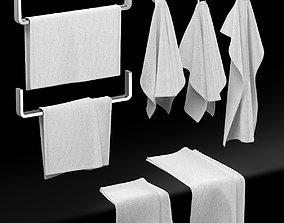 3D KITCHEN TOWELS WHITE
