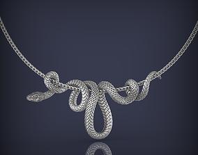 Snake Necklace Pendant Jewelry 3d print model