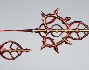 Succubus Scepter or Magic Staff 3D asset