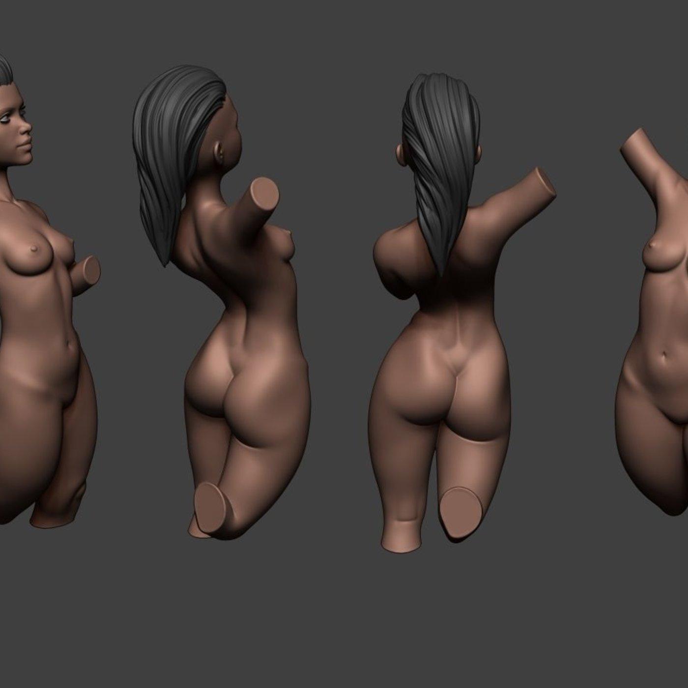 Zbrush Girl Pose