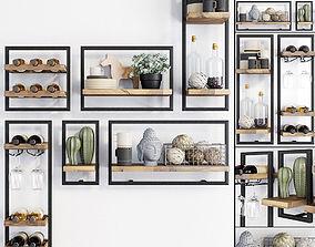 3D model Teak House LOFT d-Bodhi Shelfmate wall shelves