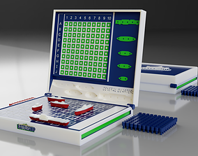 BATTLESHIP board game 3D model game battleships