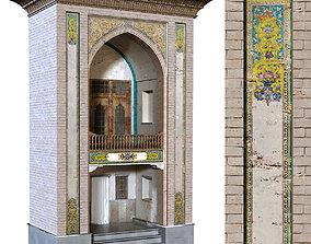 3D model old islamic turkish arch set 136