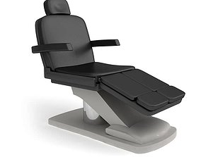 Padded Doctor s Chair 3D