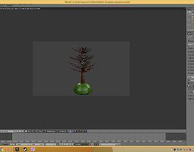 3D printable model tree in 2d