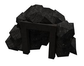 A low poly mine 3D model