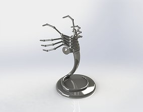 3D print model Alien Facehugger car hood figure with 1
