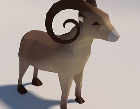 Game Ready Low-Poly Goat 3D asset