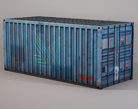 Shipping Container 3D asset realtime PBR