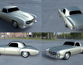 3D model Mercedes 190SL Hard Top