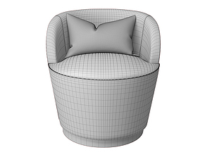 Monk Armchair 3D model
