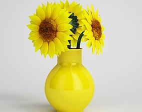 palm 3D model CGAxis flower