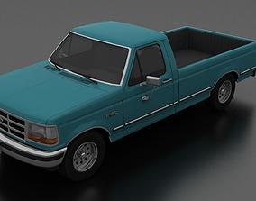 3D model F-150 Pickup 1992-1997 Regular Cab Long Box