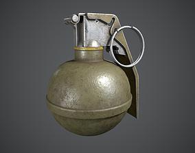 3D asset game-ready PBR M67 Grenade