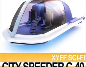 car-obj Xyff Sci-Fi City Speeder C 40 3D