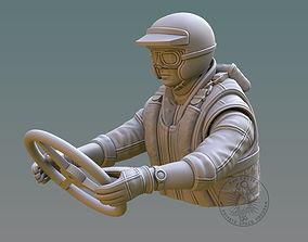 Drag Boat Pilot Bust 3D print model boat
