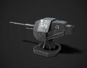 3D asset rigged Turret Sentry Game Model
