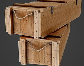 Wooden Ammo Box - PBR Game-Ready 3D model