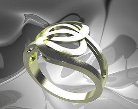 beauty 3D print model Plain Light Women Ring