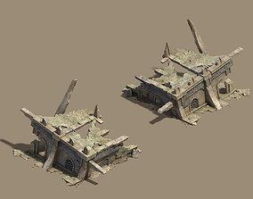 Desert - Broken Buildings 3D