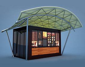 Coffee Kiosk 3D model