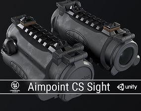 PBR Aimpoint CS Sight 3D asset