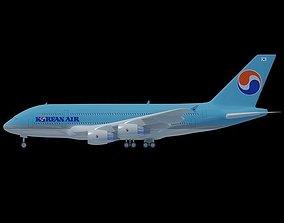 3D model Korean Air A380