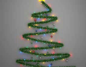 3d Model Diy Christmas Light Tree Cgtrader