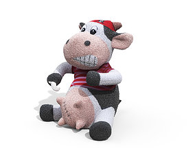 Toy Pirate Cow 3D model
