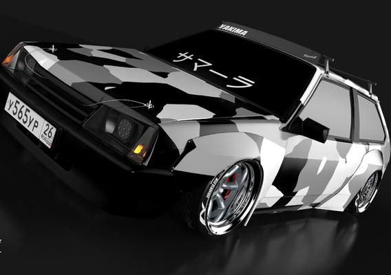 Vaz 2108 Concept body kit