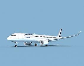 Airbus A220-300 Air France Regional 3D model