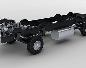Truck Chassis with wheels motor 3D model