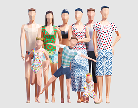 3D asset Summer People
