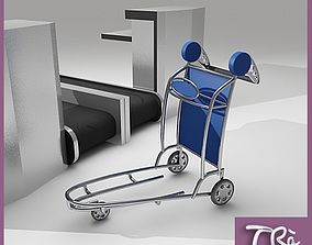 3D LUGGAGE CART AIRPORT