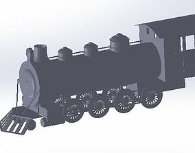 3D print model steam train