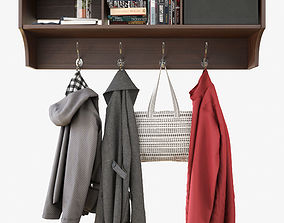 Wall Shelf With Clothes 3D model