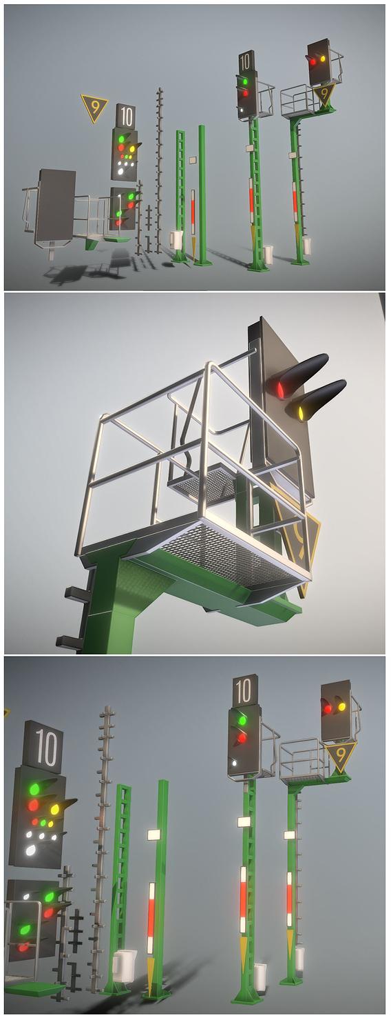 Railway Signal KS Modular and High-Poly